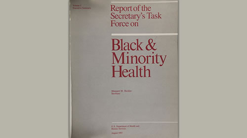 Cover image of Report of the Secretary's Task Force on Black and Minority Health