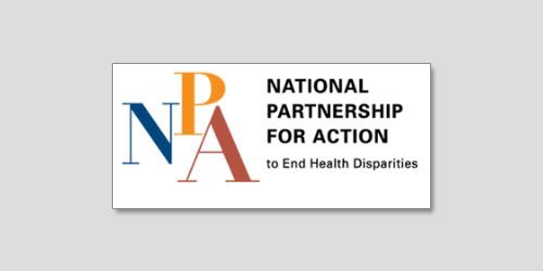 National Partnership for Action to End Health Disparities logo