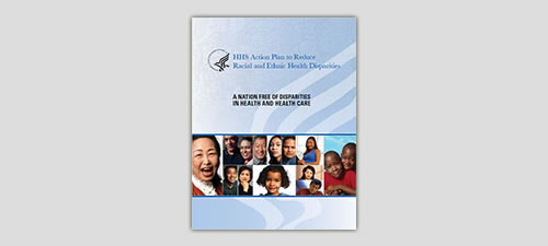 cover image of action plan for national leadership summit for eliminating racial and ethnic disparities