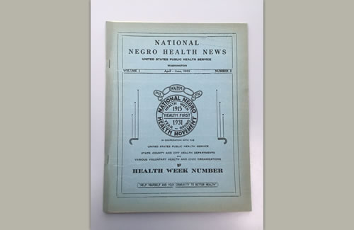 cover image of National Negro Health News publication 1933