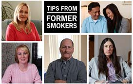 Collage of former smokers