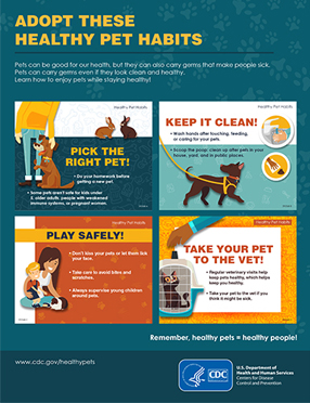 Publications Infographic cover for Adopt These Healthy Pet Habits