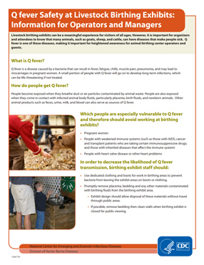 PDF cover for Q Fever Safety at Livestock Birthing Exhibits