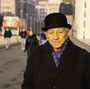 elderly man in city