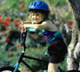 girl with helmet on bike