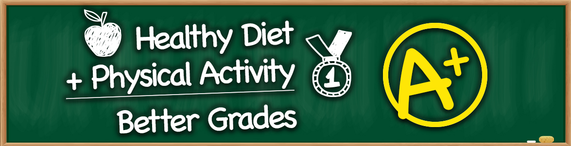 Healthy Diet plus Physical Activity equal Better Grades
