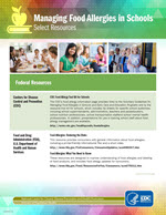 cover of Managing Food Allergies in Schools resource