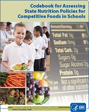 cover of Codebook for Assessing State Nutrition Policies for Competitive Foods in Schools