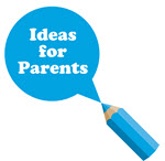 Ideas for Parents blue pencil image