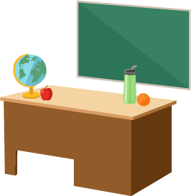 Teacher's desk image