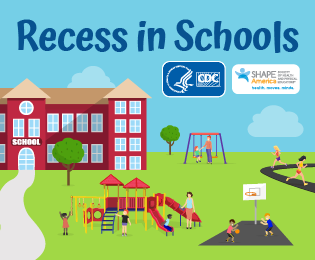 CDC and SHAPE America Recess in Schools Web Badge