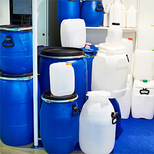 Image of different sized water containers