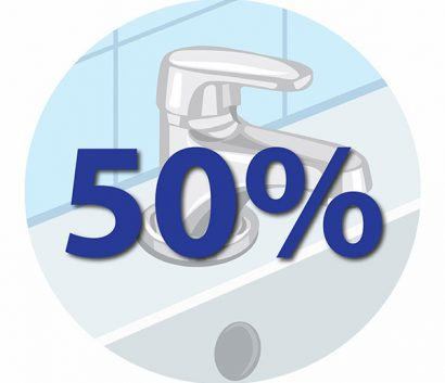 50% of healthcare facilities in resource-limited settings lack access to piped water.