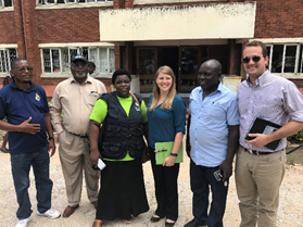 Members of the global WASH outbreak investigation team and colleagues from the Ministry of Health and Child Welfare and WHO in Zimbabwe