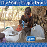 cover page - a woman in rural africa holding water purification sachets