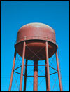 a water tower.