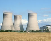Photo of multiple cooling towers