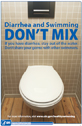 A thumbnail image of the Diarrhea and Swimming Don't Mix poster