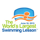 Logo for the World's Largest Swimming Lesson. The event is held June 18, 2013.