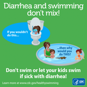 Diarrhea and Swimming Don't Mix 1