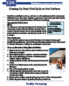 Cleaning Body Fluid Spills factsheet