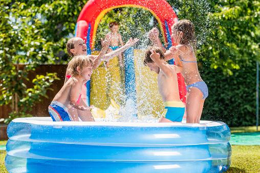 Inflatable Plastic Kiddie Pools Healthy Swimming Healthy