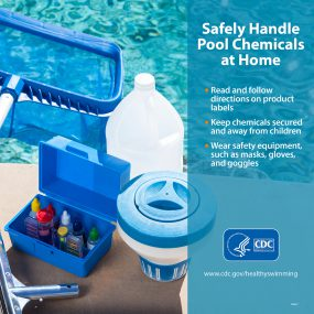 Safely handle pool chemicals at home - facebook version