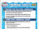 Pool Chemical Safety Use and Storage posters