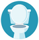 Icon graphic of toilet