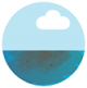 Icon graphic of dirty and cloudy water