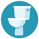 Icon graphic of a toilet