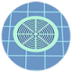 Icon graphic of a pool drain