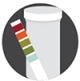 Icon graphic of water test strips