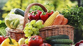 Photo: Basket of fruits and vegetables