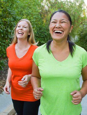 Photo: Two women walking