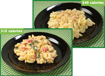 photo of 2 variations of macaroni and cheese, one with 540 calories ...