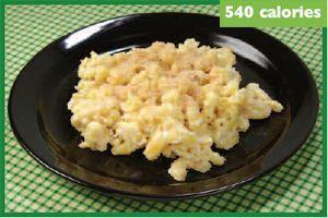 photo of macaroni and cheese with 540 calories