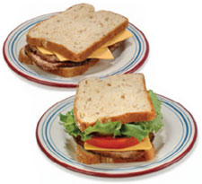 photo of two sandwiches