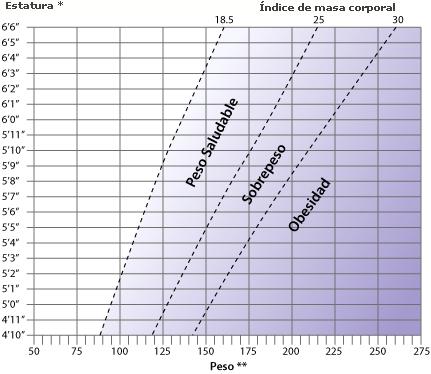 Peso promedio adulto masculino