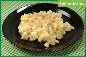 foto de macarrones con queso de 540 calorías