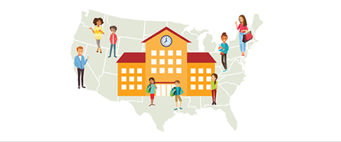 School Program map illustration