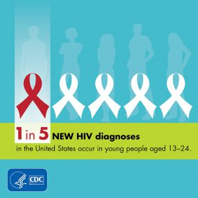 1 in 5 new HIV diagnoses in the United States occurs in young people.