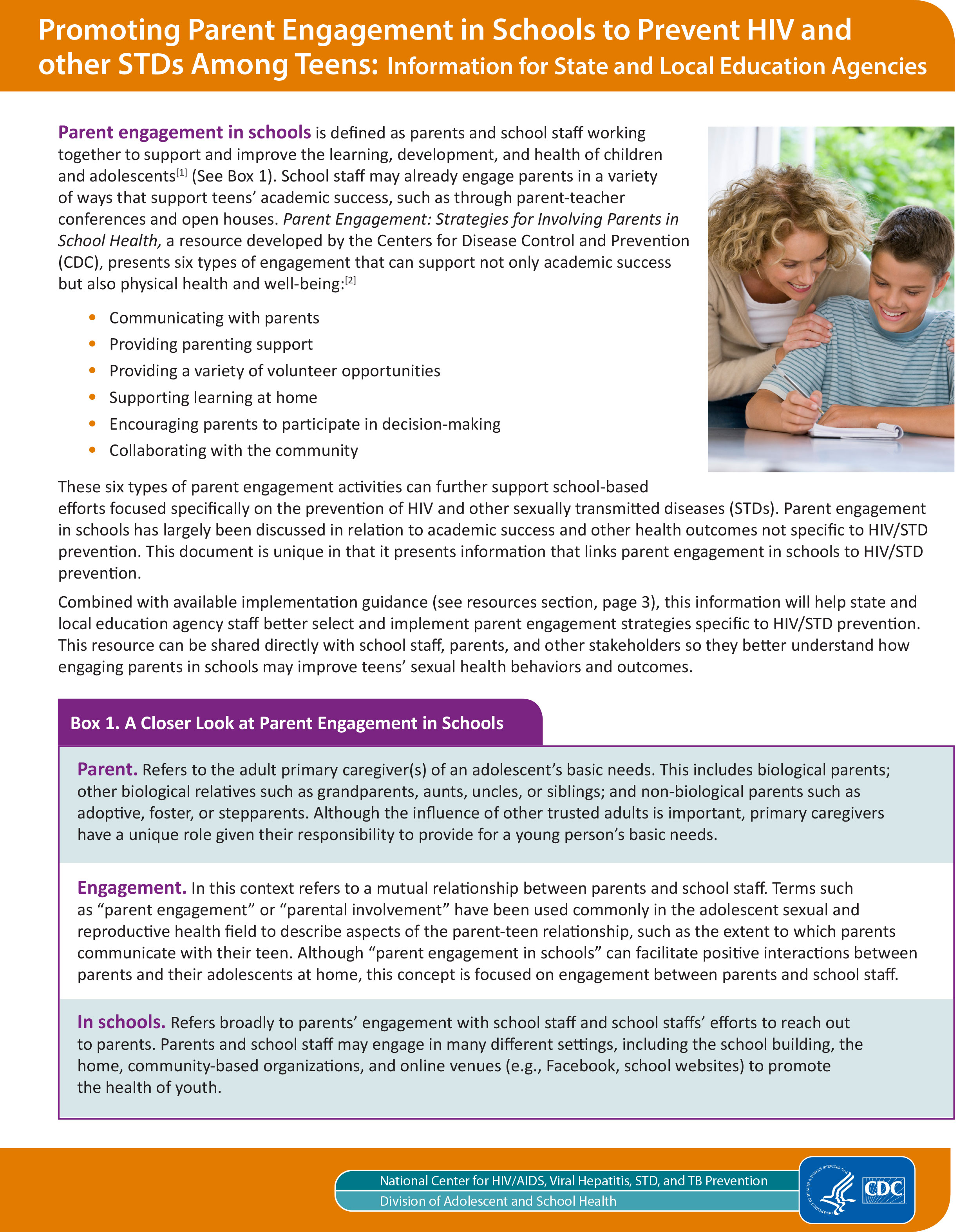 thumbnail image of promoting parent engagement in schools resource