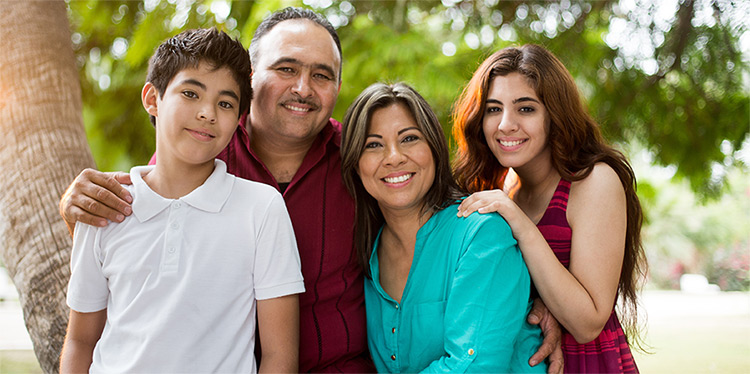 Picture of Hispanic family