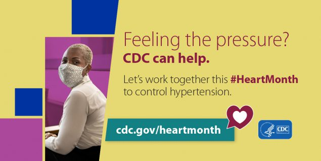 Feeling the pressure? CDC can help. Let's work together this Heart Month to control hypertension.  cdc.gov/heartmonth