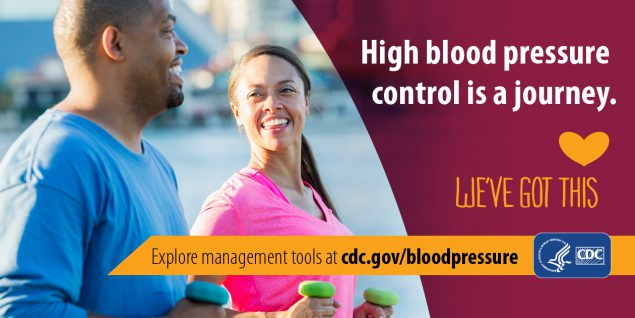 High blood pressure control is a journey. Explore management tools at cdc.gov/bloodpressure.