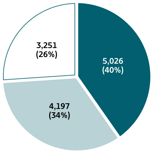 Figure 1.7.  The pie chart provides information on the availability of risk behaviors/exposures information for reported cases of hepatitis A for 2018. At least one risk behavior/exposure was identified for 26% of cases, no risk was identified for 34% of cases, and risk data were missing for 40% of cases.