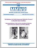 cdc guidelines for infection control in healthcare facilities