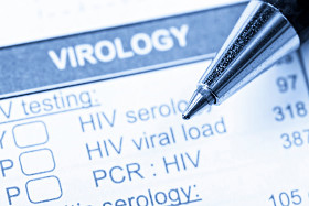 Image of a pen and virology check list