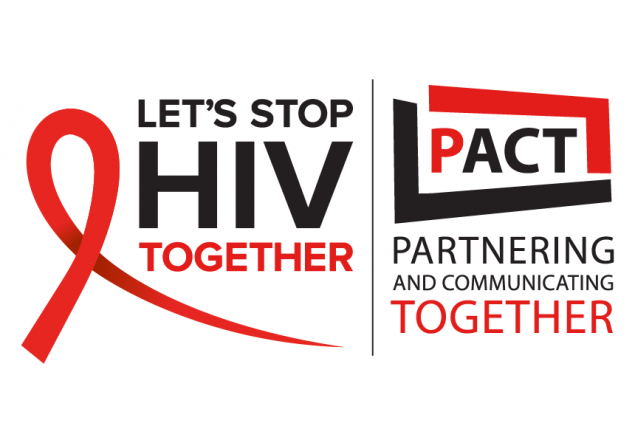 Let's Stop HIV Together and PACT logos